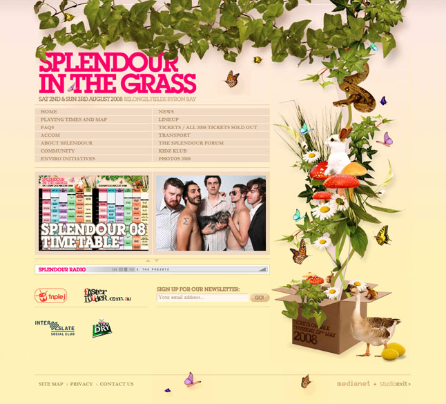 SPLENDOUR IN THE GRASS / WEBSITE